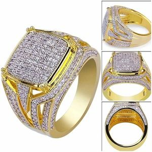 Other - Gift idea Gold men ring cubic zircon 8,9,10,11